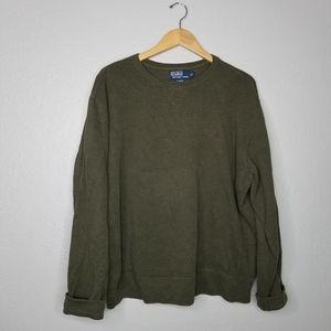 Polo ralph lauren pull over olive sweatshirt